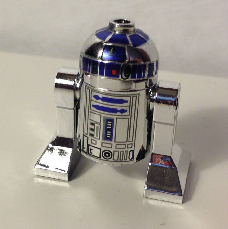 Lego Star Wars CUSTOM R2 D2 Chrome SILVER Minifig Minifigure Limited RARE! #LEGO