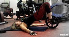 Ejercicios con rueda para abdominales y piernas: tonifica tu cuerpo en casa…