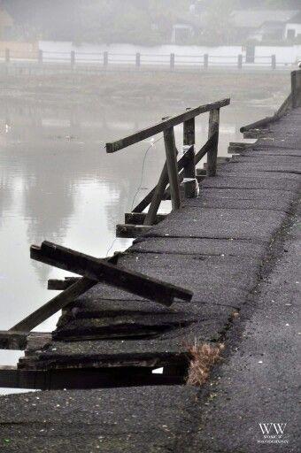 Deterioration of the bridge