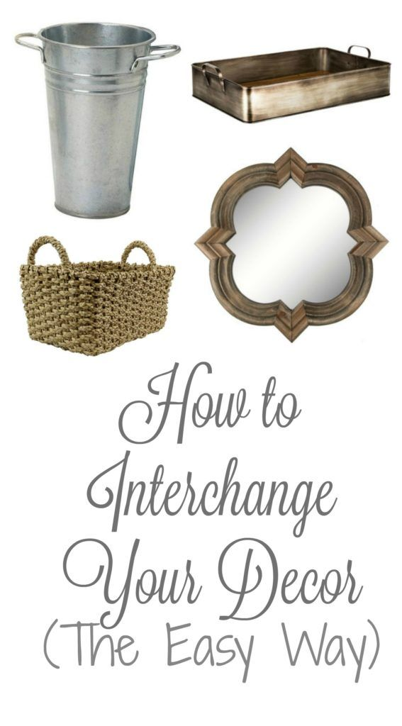 How to Interchange Your Decor {the Easy way!} - Re-Fabbed