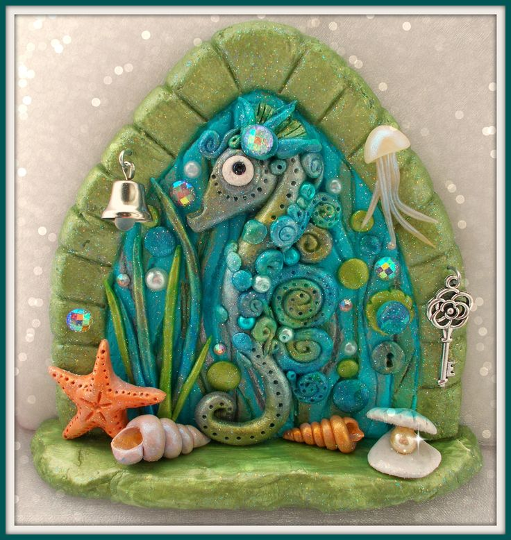 446 best images about wee little fairy doors and wee teeny for Painted fairy doors