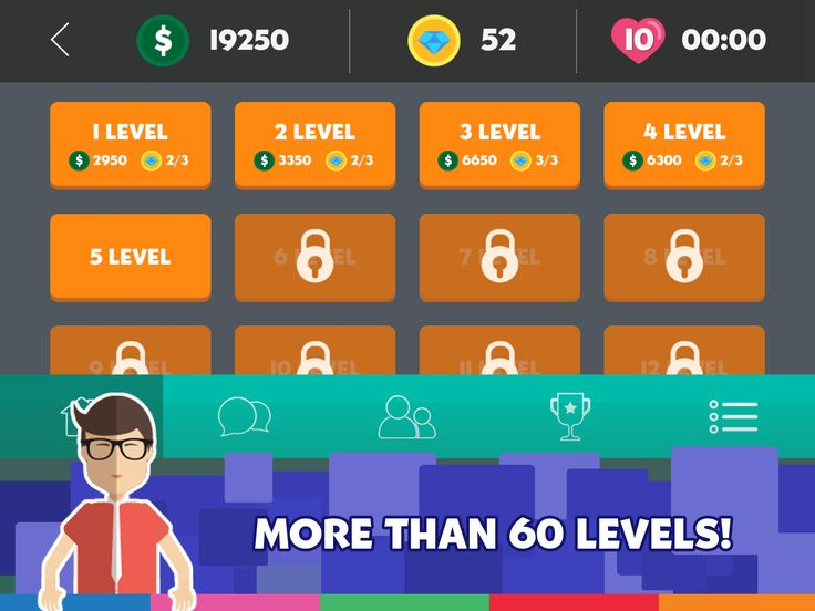 More than 60 levels...