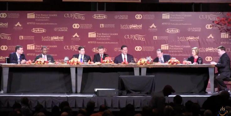 The 2015 Presidential Family Forum featured Carly Fiorina, Mike Huckabee, Rick Santorum, Rand Paul, Marco Rubio, Ben Carson and Ted Cruz.