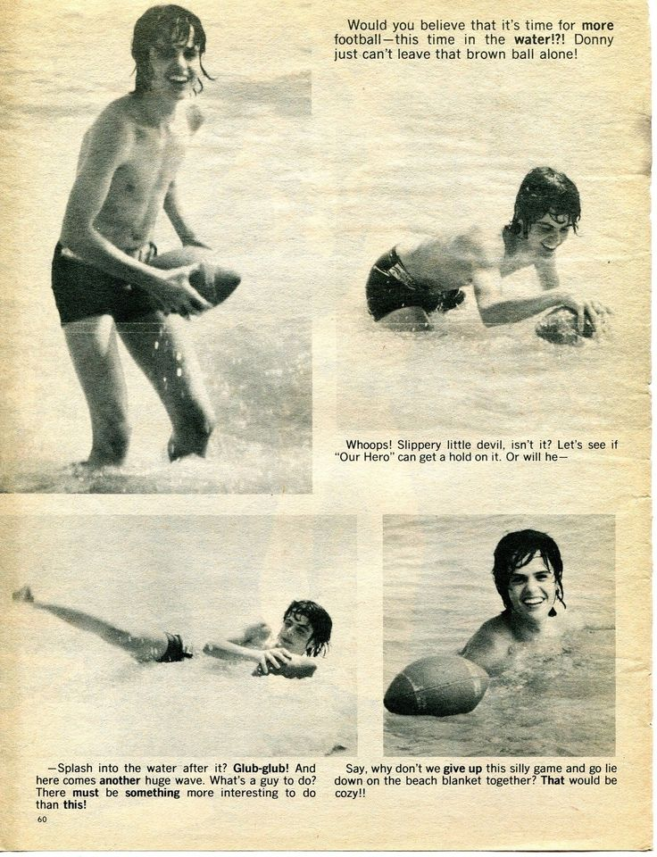 Donny Osmond clipping 70 039 s SHIRTLESS in Water Osmonds | eBay
