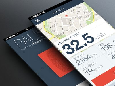 Bike Now app #ios #app #design