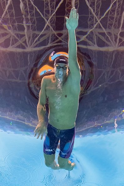 #RIO2016 USA's Caeleb Dressel competes in the Men's 100m Freestyle seimifinal during the swimming event at the Rio 2016 Olympic Games at the Olympic Aquatics...