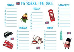 Plan leckcji school timetable