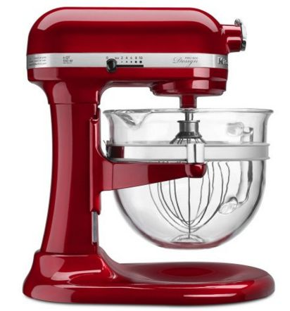 Get this Candy Apple Red KitchenAid mixer for only $289.99! Perfect gift or treat yourself. ...