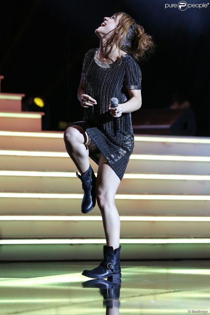"""Exclusif - Prix Spécial - Zaz - Enregistrement de l'émission """"Hier Encore"""" avec Charles Aznavour à l'Olympia le 20 mai 2014."""