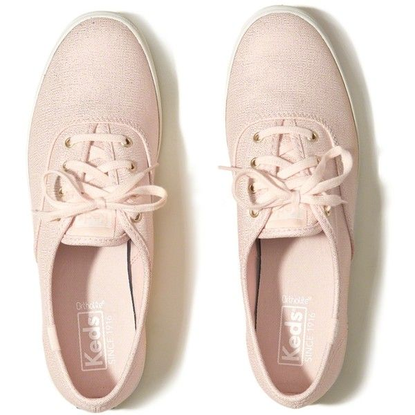 Hollister Keds Champion Metallic Canvas Sneaker (£24) ❤ liked on Polyvore featuring shoes, sneakers, zapatos, metallic lace up shoes, canvas sneakers, laced sneakers, metallic shoes and metallic sneakers