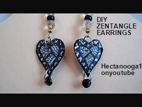 JEWELRY MAKING: Zentangle earrings, paper beads, tutorial on youtube https://www.youtube.com/watch?v=7H3YgiwPfjs