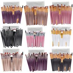Makeup Brushes 20 Pcs 16 Color Professional Soft Cosmetics Beauty Make up Brushes Set Kabuki Kit Tools maquiagem Makeup Brushes Professional Makeup Brush Set