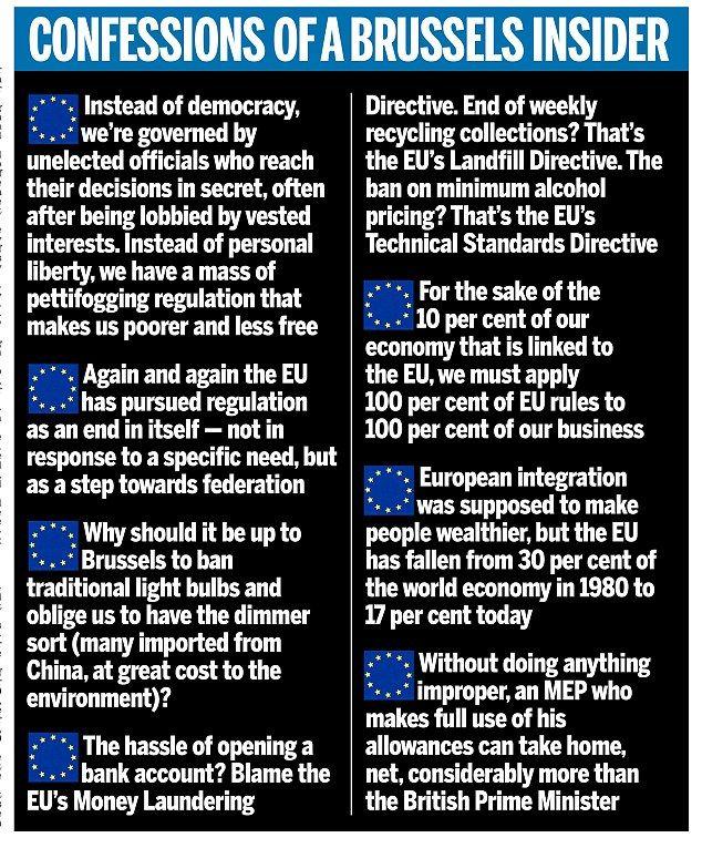 Please, please sack me! Euro MP DANIEL HANNAN plea for Brexit