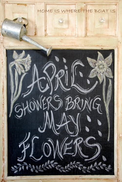 Chalking It Up~ April Showers | Home is Where the Boat Is