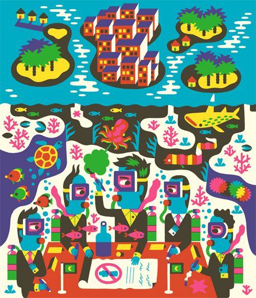 Usbek et Rica - Till Hafenbrak Illustration
