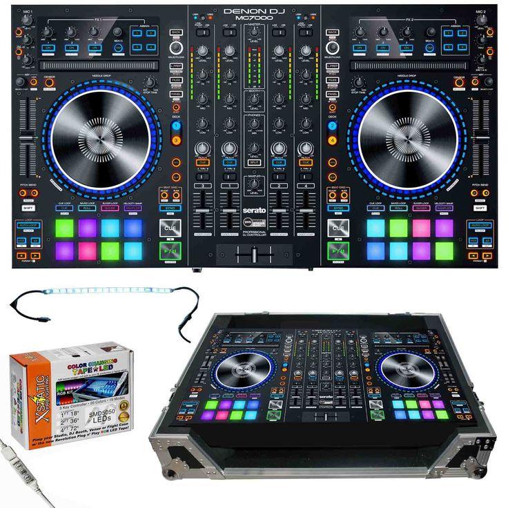 Denon DJ MC7000 Professional DJ Controller & Mixer w Dual USB & ATA Flight Case