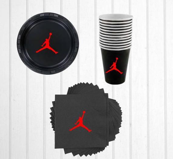 Party Linens Chicago Il: Air Jordan Party Napkinscups&plates/Chicago Bulls/Air