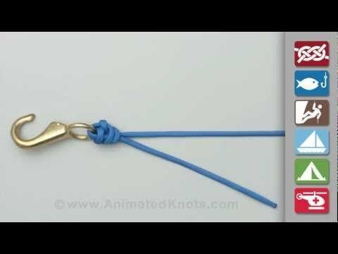 Great site for learning to tie knots for fishing.  This one's a palomar knot.
