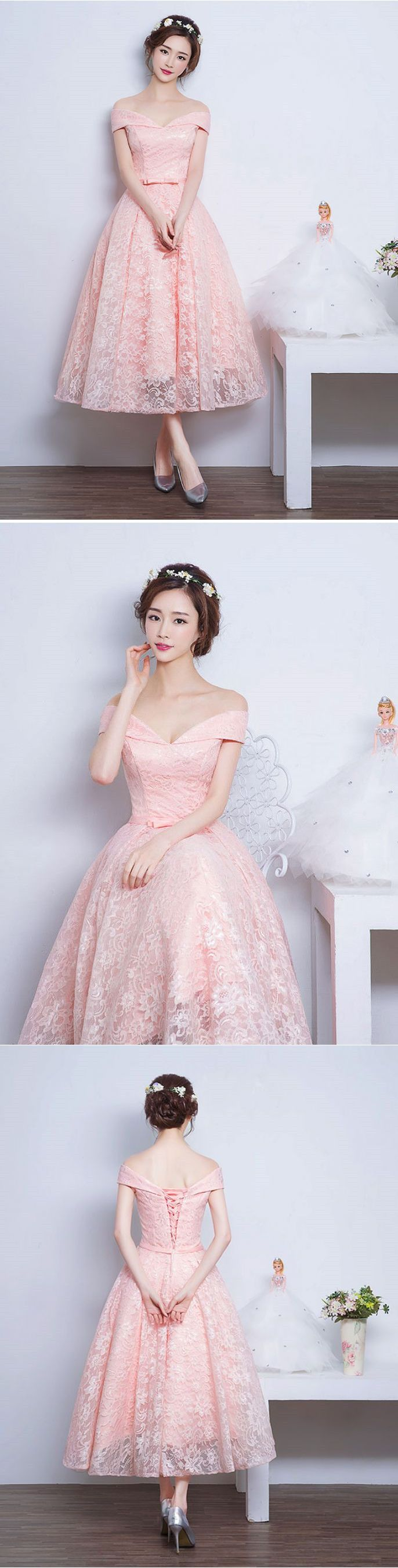 New Fashion Prom Dresses With Lace Prom Dress 1950s Audrey Hepburn Vintage Inspired Off Shoulder Lace Prom Formal Dress Evening Gowns