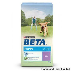Beta Puppy with Lamb 14kg Beta Puppy with Lamb provides young dogs with the wide array of nutrients that they need for the healthy development of their physical & cognitive health.