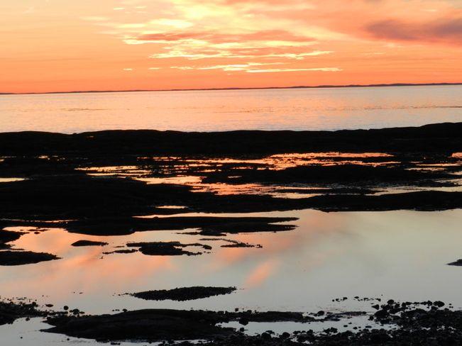 coucher de soleil Sainte-Flavie, QC