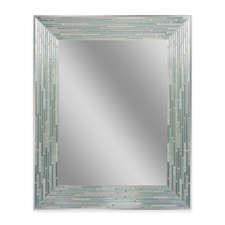 Gallery For Website Reeded Sea Glass Inch x Inch Frameless Mirror