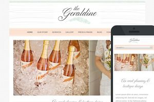 WordPress Themes ~ Geraldine Theme by BluChic