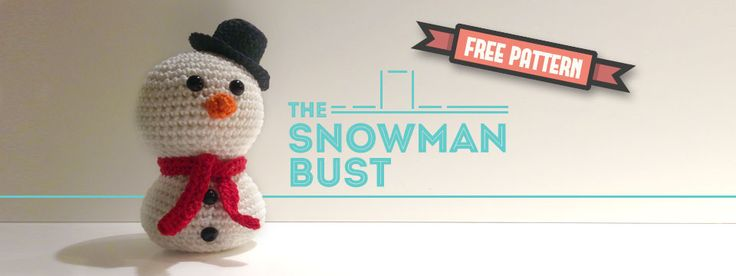 Free pattern Snowman Bust