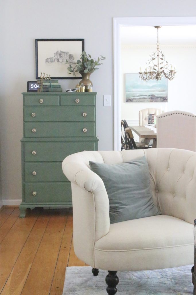 Room By Room A Multifunctional Living Space White Cottage Home Living Furniture Living Spaces Green Furniture #painted #furniture #in #living #room