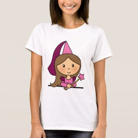 Cute Cartoon Clip Art Princess in a Pink Dress - tap to personalize and get yours