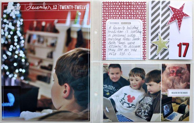 December Daily Ideas: Scrapbook a Santa video message | http://scrapinspired.com/december-daily/