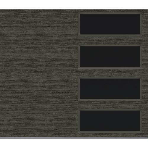 Ideal Door Modern Flush 8 X 7 Slate Finish Insulated Garage Door With Windows R Value 6 5 Ideal Garage Doors Garage Door Insulation Garage Door Types