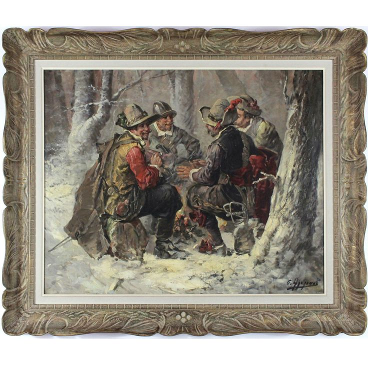Resting Musketeers, 19th Century, oil on canvas
