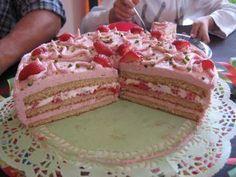 Rezept: Erdbeer-Mascarpone-Torte