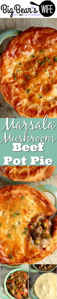 This Marsala Mushroom Beef Pot Pie is the ultimate comfort food. It's made with fresh ingredients and locally raised beef. Plus I've got a little look into Baldwin Family Farms on the blog today too! Love checking out local places like this! Get the recipe: http://www.bigbearswife.com/marsala-mushroom-beef-pot-pie-baldwin-farms/ #ad #GottobeNCBEEF