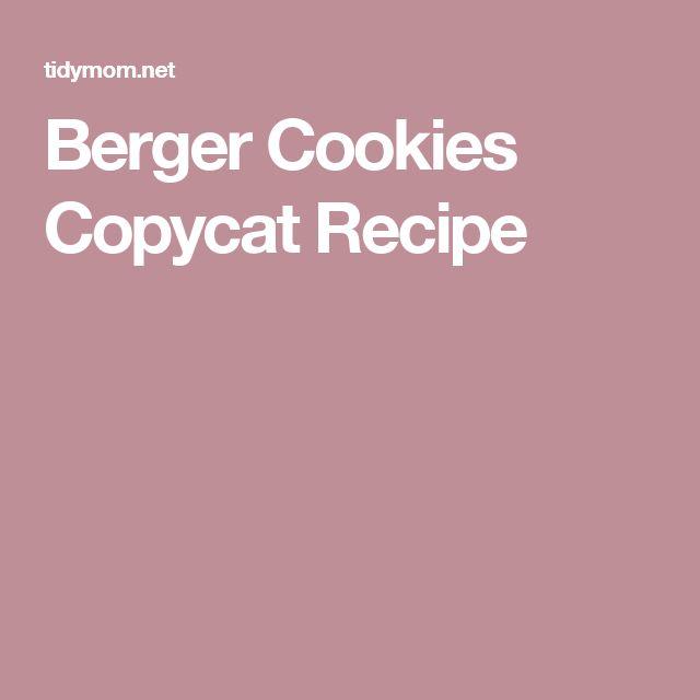Berger Cookies Copycat Recipe