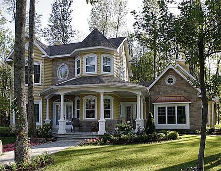 Flexible Victorian Design - 2181DR | Country, Victorian, Canadian, Metric, Photo Gallery, 1st Floor Master Suite, Bonus Room, CAD Available, Den-Office-Library-Study, PDF, Wrap Around Porch, Corner Lot | Architectural Designs