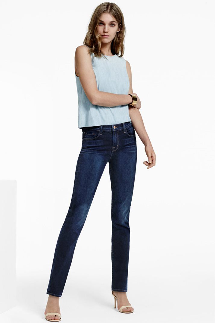 End of Season Sale | Find the best of J BRAND summer style at up to 60% off: 23104 Maria High-Rise Straight in Starlight.