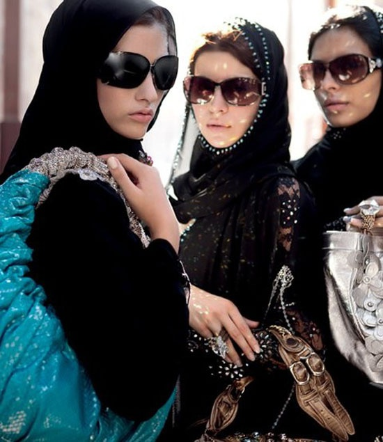 Girls with abayas