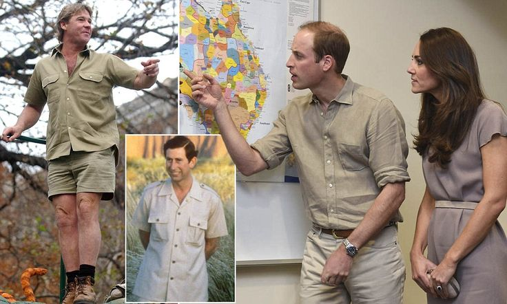 Crikey! William is the spitting image of Steve Irwin
