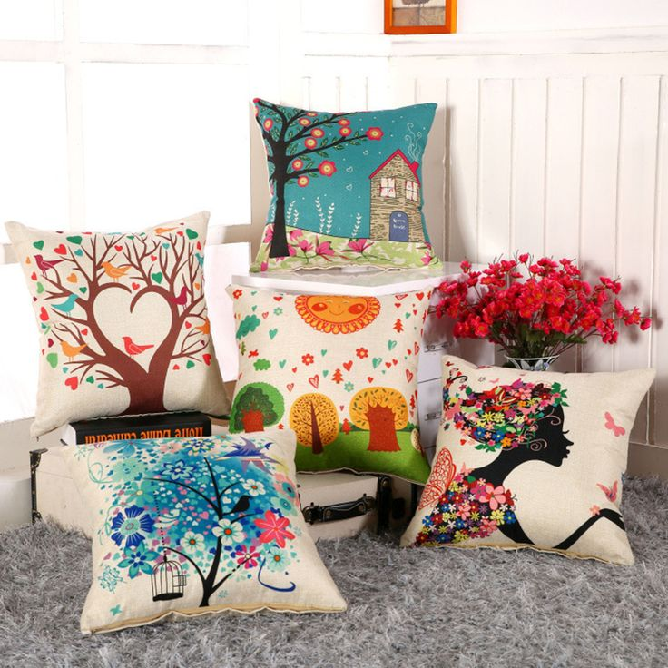 Cheap Cushion, Buy Directly from China Suppliers:   Hot Sale 45x45cm/17.7x17.7'' Owl Printed Linen Cushion For Sofa Decorative Throw Cotton Sofa Decor Couch Free Shippin