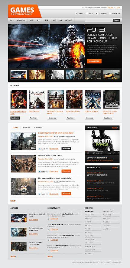 Games Edge WordPress Themes by Mercury