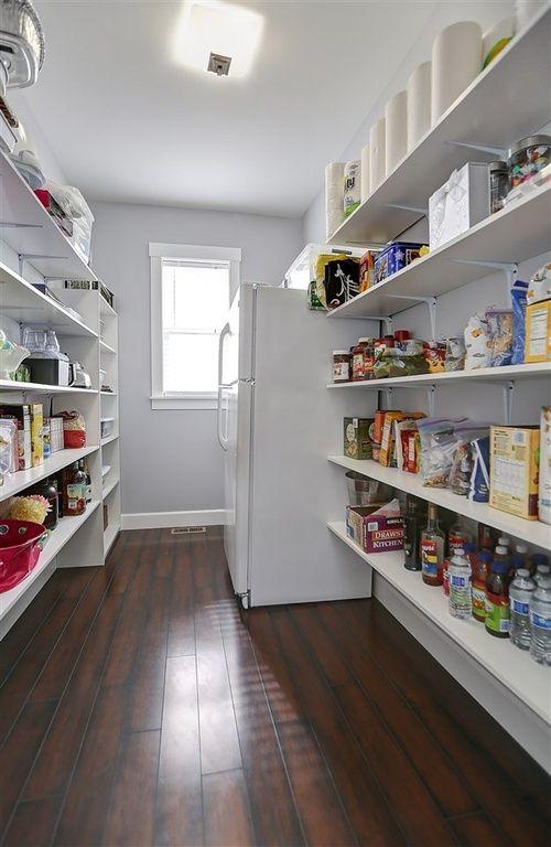 Traditional Pantry with flush light, Hardwood floors, Easy Track 2179-10 Closet Shelves RS1423, Paint1, Built-in bookshelf