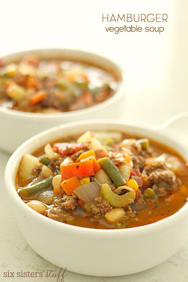 Hamburger Vegetable Soup | Six Sisters' Stuff