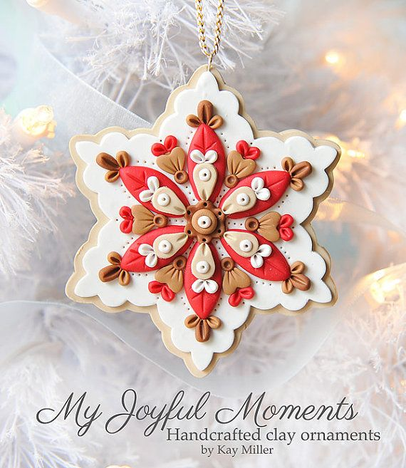 Handcrafted Polymer Clay Ornament by Kay Miller on Etsy.