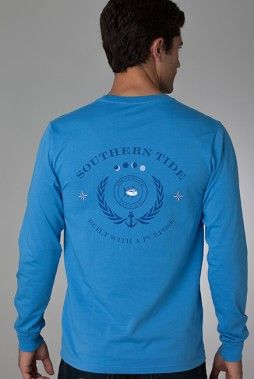 Crest Long Sleeve T-Shirt | Classic Mens Clothing | Southern Tide