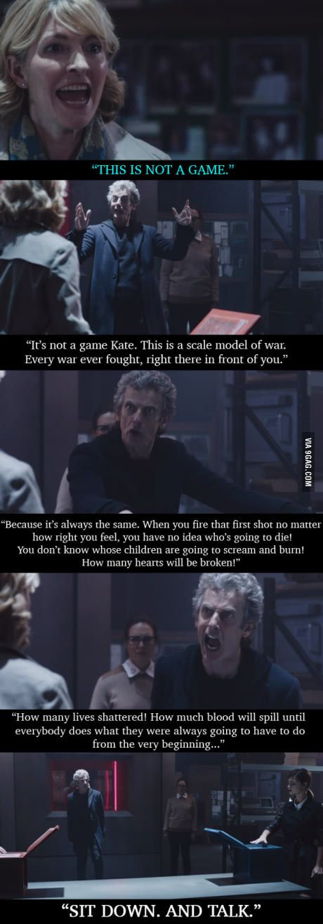 One of Doctor Who's best speeches << one of the wisest speeches in television even