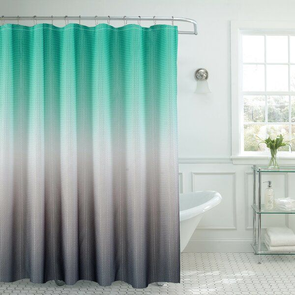 Rohando Ombre Shower Curtain In 2020 Ombre Shower Curtain Gray Shower Curtains Turquoise Shower Curtain