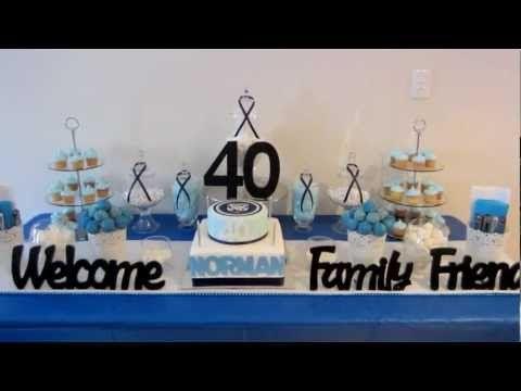 Blue & White Dessert Table (NRL Bulldogs Theme)