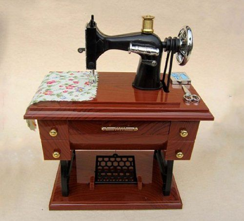 Mini Treadle Sewing Machine Mechanical Vintage Music Box *** You can find out more details at the link of the image.